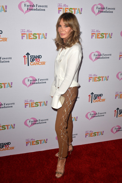 The Farrah Fawcett Foundation's Tex-Mex Fiesta - Arrivals [farrah fawcett foundations tex-mex,jaclyn smith,clothing,tights,leg,joint,footwear,carpet,red carpet,long hair,thigh,pantyhose,farrah fawcett foundations tex-mex fiesta,beverly hills,california,wallis annenberg center for the performing arts,fiesta - arrivals]