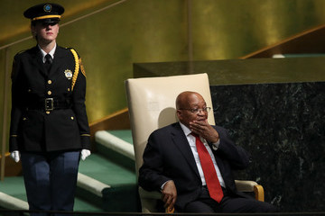 Jacob Zuma World Leaders Address Annual United Nations General Assembly