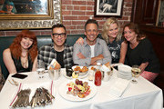 "Natasha Lyonne, Fred Armisen, Seth Meyers, Amy Poehler and Rachel Dratch attend the opening night after party for ""Jacqueline Novak: Get on Your Knees"" at  A.O.C. L aile ou la Cuisse on July 22, 2019 in New York City."