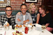 "Fred Armisen, Seth Meyers, Amy Poehler and Rachel Dratch attend the opening night after party for ""Jacqueline Novak: Get on Your Knees"" at  A.O.C. L aile ou la Cuisse on July 22, 2019 in New York City."