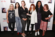(L-R) Amy Poehler, Abbi Jacobson, Jacqueline Novak, Natasha Lyonne, Phoebe Robinson and Rachel Dratch attend the opening night of 'Jacqueline Novak: Get on Your Knees' at Cherry Lane Theatre on July 22, 2019 in New York City.