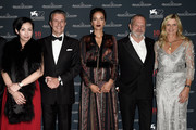 (L-R) Kit Chan, Jaeger-LeCoultre Ceo Daniel Riedo, Carmen Chaplin, director Terry Gilliam and Clare Milford Haven attend the Jaeger-LeCoultre gala event celebrating 10 years of partnership with La Mostra Internazionale d'Arte Cinematografica di Venezia at the Excelsior Hotel on September 7, 2015 in Venice, Italy.