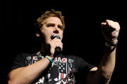 Comedian Jim Florentine emcees the Jagermeister Fall Music Tour at The Pearl concert theater at the Palms Casino Resort October 20, 2010 in Las Vegas, Nevada.