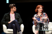 Jim Chapman and Alice Levine speak at the Technology with Heart: Jaguar Land Rover's Tech Fest at Central St Martins on September 7, 2017 in London, England.