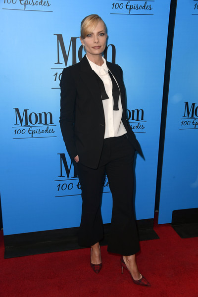 CBS And Warner Bros. Television's 'Mom' Celebrates 100 Episodes - Arrivals [episodes,mom celebrates 100,suit,formal wear,carpet,clothing,tuxedo,red carpet,pantsuit,blazer,outerwear,event,arrivals,mom celebrates 100 episodes,jaime pressly,tao hollywood,california,los angeles,cbs,warner bros. television]