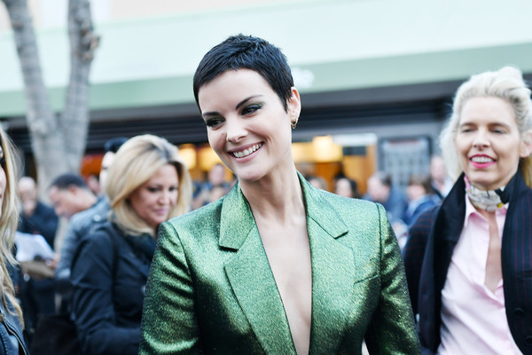 """Premiere Of Sony Pictures' """"Bloodshot"""" - Red Carpet [bloodshot,people,facial expression,fashion,street fashion,yellow,beauty,smile,hairstyle,human,white-collar worker,red carpet,jaimie alexander,fashion,street fashion,beauty,expression,sony pictures,premiere,premiere,fashion,socialite,beauty.m]"""