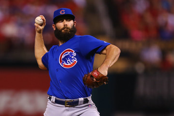 Jake Arrieta Chicago Cubs v St Louis Cardinals