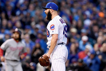 Jake Arrieta Divisional Round - Washington Nationals v Chicago Cubs - Game Four