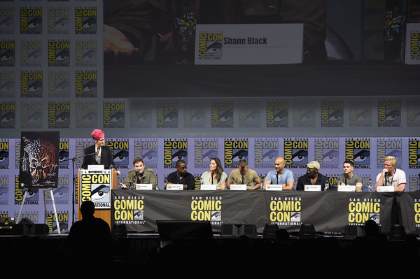 Comic-Con International 2018 - 20th Century Fox's 'The Predator' Panel [comic-con international 2018,event,crowd,fictional character,games,stadium,performance,stage,grae drake,thomas jane,keegan-michael key,trevante rhodes,shane black,the predator panel,l-r,san diego convention center,20th century fox]