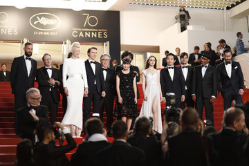 Jake Gyllenhaal Lily Collins 'Jupiter's Moon' Red Carpet Arrivals - The 70th Annual Cannes Film Festival