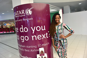 Jamelia Launch of Qatar Airways Competition Marking Less Than a Week to Go Until Inaugural Service Between Birmingham And Doha