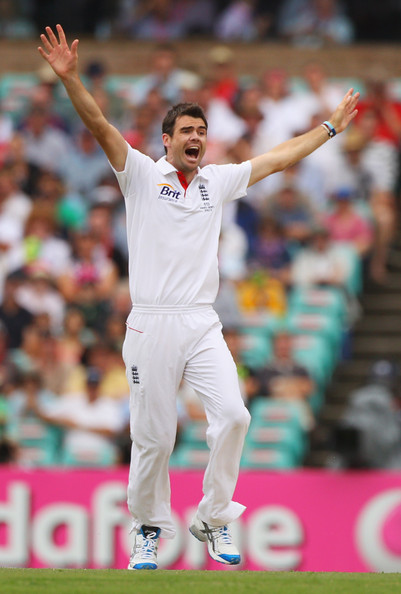 James Anderson James Anderson of England appeals during day one of the Fifth Ashes Test match between Australia and England at Sydney Cricket Ground on January 3, 2011 in Sydney, Australia.