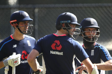 James Anderson Moeen Ali England Nets Session