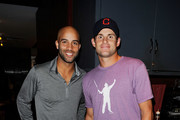 (L-R) US tennis players James Blake and Andy Roddick attend the James Blake Foundation Annual Charity Event at Las Chicas Locas on September 12, 2011 in New York City.