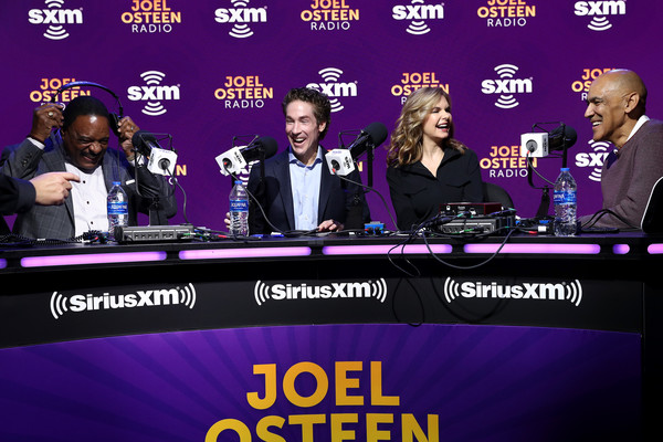 SiriusXM At Super Bowl LIV - Day 3 [television program,news conference,event,news,newscaster,media,spokesperson,games,james brown,victoria osteen,joel osteen,tony dungy,l-r,miami,florida,siriusxm,nfl,super bowl,james brown,siriusxm satellite radio,photograph,stock photography,photography,musician,image]