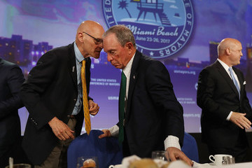James Carville Michael Bloomberg Addresses U.S. Conference Of Mayors