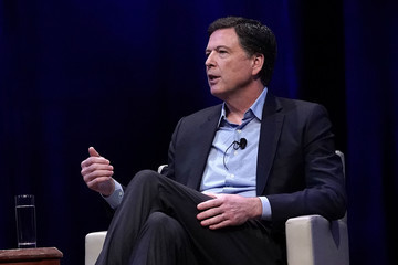 James Comey Former FBI Director James Comey Discusses New Book At George Washington University