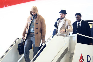 James Develin New England Patriots Arrive in Minneapolis for Super Bowl LII