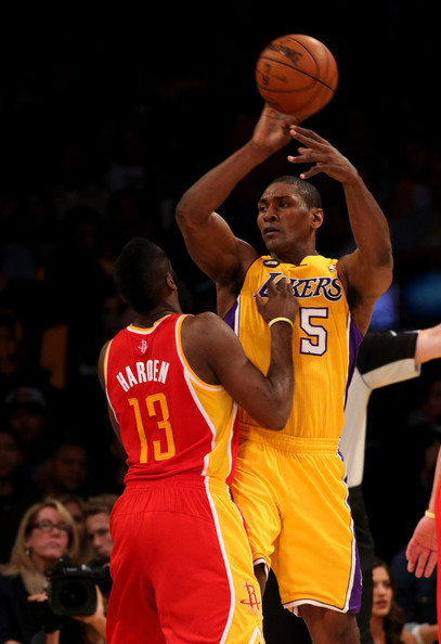 790527cef67 James Harden and Metta World Peace Photos»Photostream · Pictures · Houston  Rockets v Los Angeles Lakers