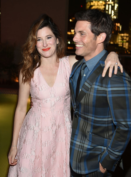 The New York Premiere Of IFC Films' 'The D Train' - After Party [the d train,the new york premiere of ifc films,fashion,premiere,event,dress,hairstyle,cocktail dress,fashion design,textile,flooring,formal wear,actors,james marsden,kathryn hahn,l-r,new york,cinema society and banana boat host,ifc,party]