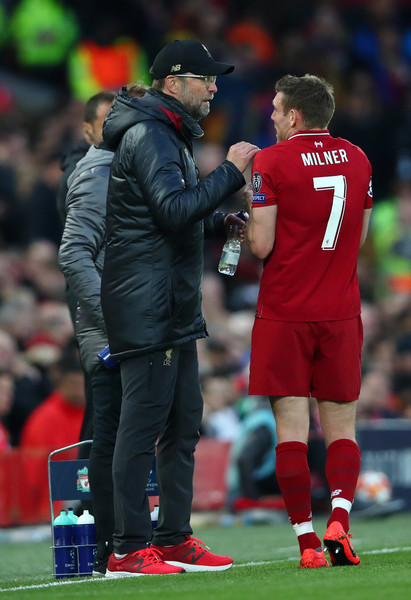 James Milner and Jurgen Klopp Photos Photos - Liverpool vs