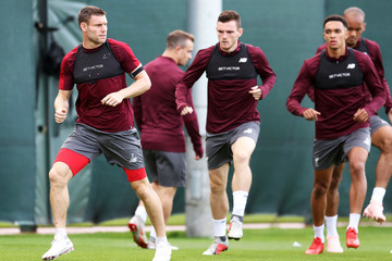 James Milner Liverpool Training Session And Press Conference