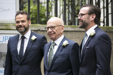 James Murdoch Jerry Hall Marries Media Mogul Rupert At St Brides Church