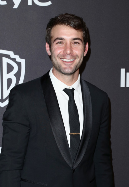 InStyle And Warner Bros. Golden Globes After Party 2019 - Arrivals [suit,white-collar worker,premiere,tuxedo,formal wear,facial hair,event,beard,smile,james wolk,beverly hills,california,the beverly hilton hotel,instyle,golden globes,warner bros.,arrivals,party]