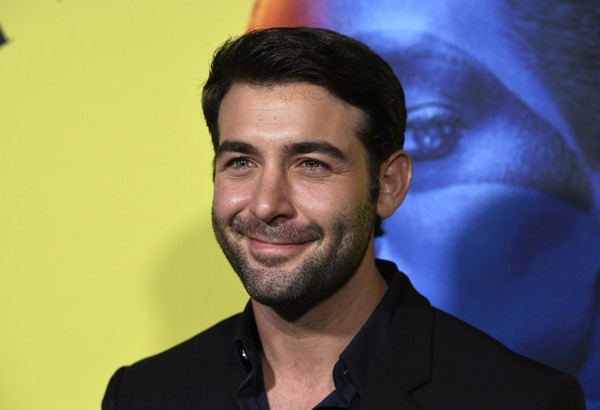 """Premiere Of HBO's """"Watchmen"""" - Arrivals [hair,facial hair,chin,forehead,beard,moustache,smile,jaw,pleased,black hair,watchmen,arrivals,james wolk,california,los angeles,the cinerama dome,premiere of hbo,premiere]"""