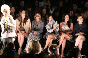 Jamie Chung Zosia Mamet TRESemme at Rebecca Minkoff Mercedes-Benz Fashion Week Spring 2014 - Backstage and Front Row