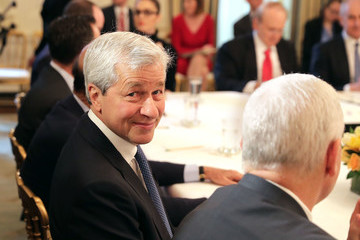 Jamie Dimon President Trump Holds Policy Forum With Business Leaders