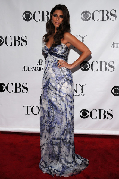 64th Annual Tony Awards - Arrivals [clothing,dress,shoulder,fashion model,gown,red carpet,premiere,fashion,carpet,hairstyle,arrivals,jamie-lynn sigler,tony awards,new york city,radio city music hall,64th annual tony awards]