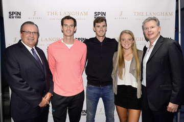 Jamie Murray Katie Swan The Langham, New York, Fifth Avenue Celebrates U.S. Open Tennis With Andy Murray And SPiN Studios