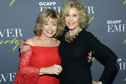ATLANTA OCTOBER 04: TV Executive Pat Mitchell and Jane Fonda - GCAPP Founder Board Chair Emeritus attend The 2018 Georgia Campaign For Adolescent Power & Potential (GCAPP) EmPower Party - Hosted by Jane Fonda on October 4, 2018 at The Fairmont in Atlanta, Georgia.