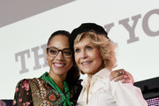Bianca Lawson, Actress and Jane Fonda, GCAPP Founder Board Chair Emeritus attend the 2018 Georgia Campaign for Adolescent Power & Potential (GCAPP) Youth EmPowerment Summit hosted by Jane Fonda on October 5, 2018 in Atlanta City.