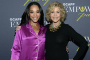 ATLANTA OCTOBER 04: Actress Bianca Lawson and Jane Fonda, GCAPP Founder Board Chair Emeritus, attend The 2018 Georgia Campaign For Adolescent Power & Potential (GCAPP) EmPower Party - Hosted by Jane Fonda on October 4, 2018 at The Fairmont in Atlanta, Georgia.