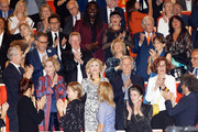(2nd row C) Jane Fonda and Costa Gavras attend the Prix Lumiere 2018 At 10th Film Festival Lumiere on October 19, 2018 in Lyon, France.