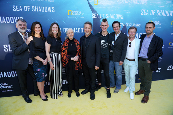 National Geographic Documentary Films' Premiere Of 'Sea Of Shadows' - Red Carpet [national geographic documentary films premiere of ``sea of shadows,red carpet,event,premiere,company,award,carpet,tourism,cynthia smith,walter kohler,jane goodall,richard ladkani,wolfgang knopfler,evp,l-r,premiere]