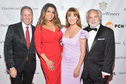 Glenn Stearns, Mindy Stearns, Jane Seymour and David Green attends The Open Hearts Foundation's 2019 Open Hearts Gala at SLS Hotel on February 16, 2019 in Beverly Hills, California.