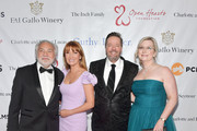David Green, Jane Seymour, Terry Fator and Angie Fiore attend The Open Hearts Foundation's 2019 Open Hearts Gala at SLS Hotel on February 16, 2019 in Beverly Hills, California.