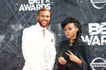 Janelle Monae Jidenna Celebs Arrive at the 2015 BET Awards