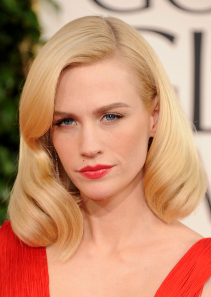 January Jones Actress January Jones arrives at the 68th Annual Golden Globe Awards held at The Beverly Hilton hotel on January 16, 2011 in Beverly Hills, California.