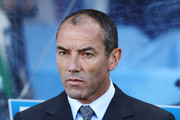 Paul Le Guen head coach of Cameroon looks on prior to the 2010 FIFA World Cup South Africa Group E match between Japan and Cameroon at the Free State Stadium on June 14, 2010 in Mangaung/Bloemfontein, South Africa.