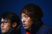Speed Skater Keiichiro Nagashima of Japan attends a press conference ahead of the Sochi 2014 Winter Olympics at the Main Press Center on February 5, 2014 in Sochi, Russia.