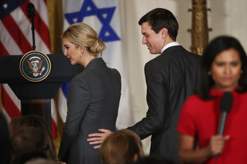 Jared Kushner Donald Trump Holds Joint Press Conference With Israeli PM Netanyahu