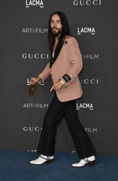 2019 LACMA Art And Film Gala Presented By Gucci - Arrivals [footwear,talent show,event,shoe,photography,style,advertising,arrivals,jared leto,los angeles,california,gucci,lacma art film gala,lacma 2019 art film gala]