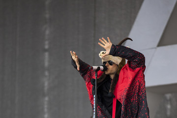 Jared Leto Thirty Seconds to Mars Perform at the Top of the Mountain Concert