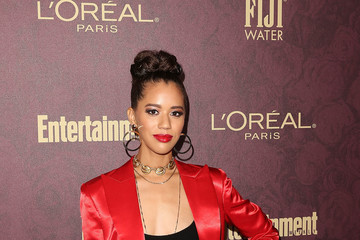 Jasmin Savoy Brown FIJI Water At Entertainment Weekly Pre-Emmy Party
