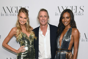 Jasmine Tookes Romee Strijd Cindy Crawford And Candice Swanepoel Host 'ANGELS' By Russell James Book Launch And Exhibit - Arrivals