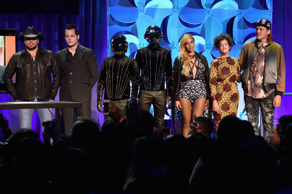 Tidal Launch Event NYC #TIDALforALL [performance,entertainment,performing arts,event,stage,public event,fashion,music artist,concert,musical,jason aldean,regine chassagne,jack white,beyonce,win butler,nyc tidalforall,l-r,tidal,daft punk,tidal launch event]